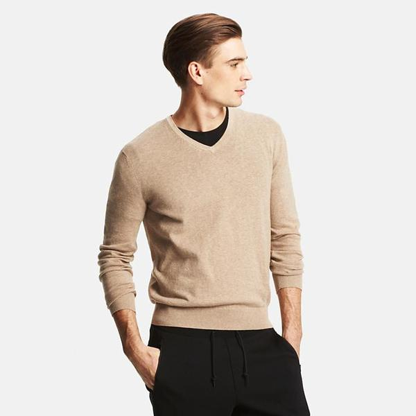 Men Cotton Cashmere V-Neck Sweater – Boost Sales